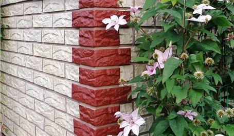Фото дома с белым и красным кирпичом