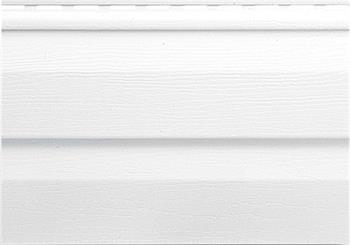 Альта сайдинг виниловый белого цвета