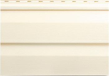 Отделка фасадным сайдингом кремого цвета