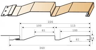 Cайдинг - размеры: ширина, длина и высота панели