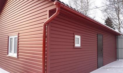 фото алюминевого сайдинга красный дом