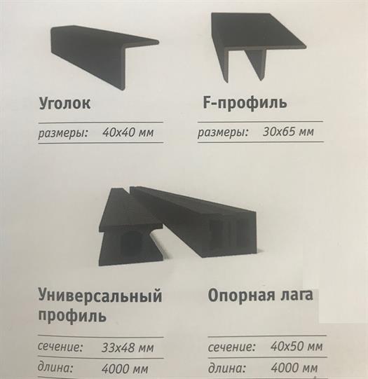 Купить комплектующие к террасной доске в Ростове на Дону