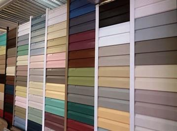 Разнообразие цветов винилового сайдинга