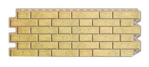 Материалы цокольного сайдинга в виде желтого кирпича